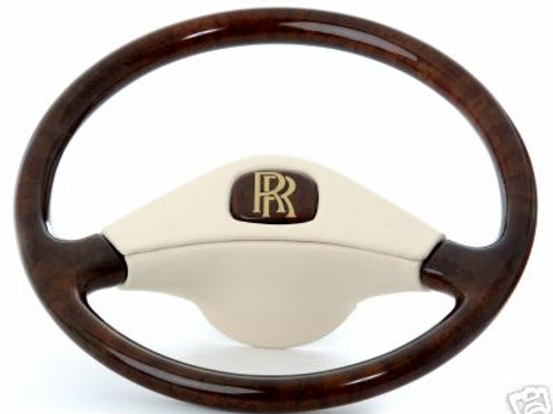 Bentley T1 Deluxe Leather Bound Walnut Steering Wheel