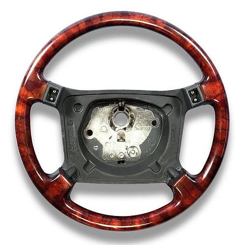 Jaguar XJS Facelift 90-96 4 Spoke Walnut Steering Wheel Airbag Type