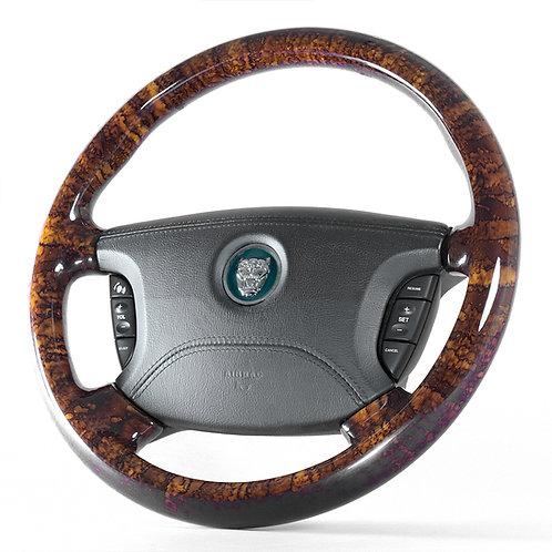 Jaguar X350 Walnut Steering Wheel