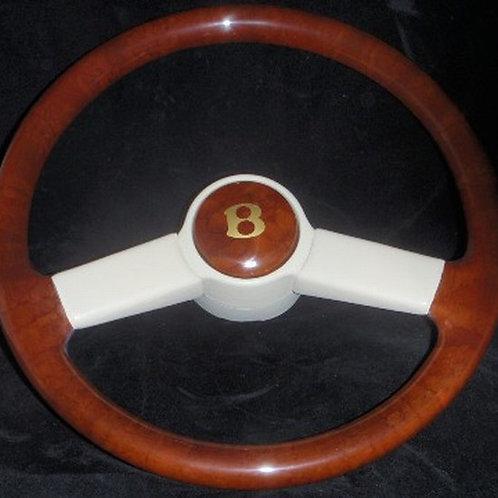 Bentley T2 Standard Leather Bound Walnut Steering Wheel
