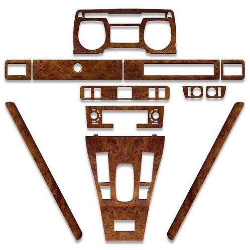 Jaguar XJS Pre Facelift 1986 to 1991 Deluxe Elm Wood Veneer Dashboard Kit