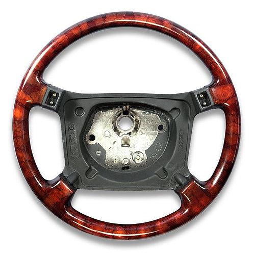 Jaguar XJS Walnut Four Spoke Steering Wheel (airbag type)