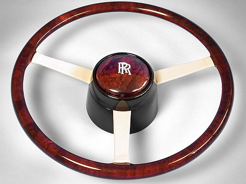 Rolls Royce Carmague Undersized Walnut steering wheel (Fourteen inch diameter)