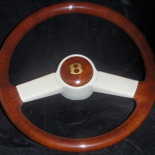 Bentley T1 Standard Leather Bound Walnut Steering Wheel