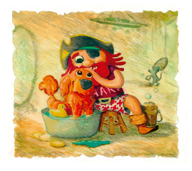 """Ilustración para el libro """"Memoria de Pirata"""""""