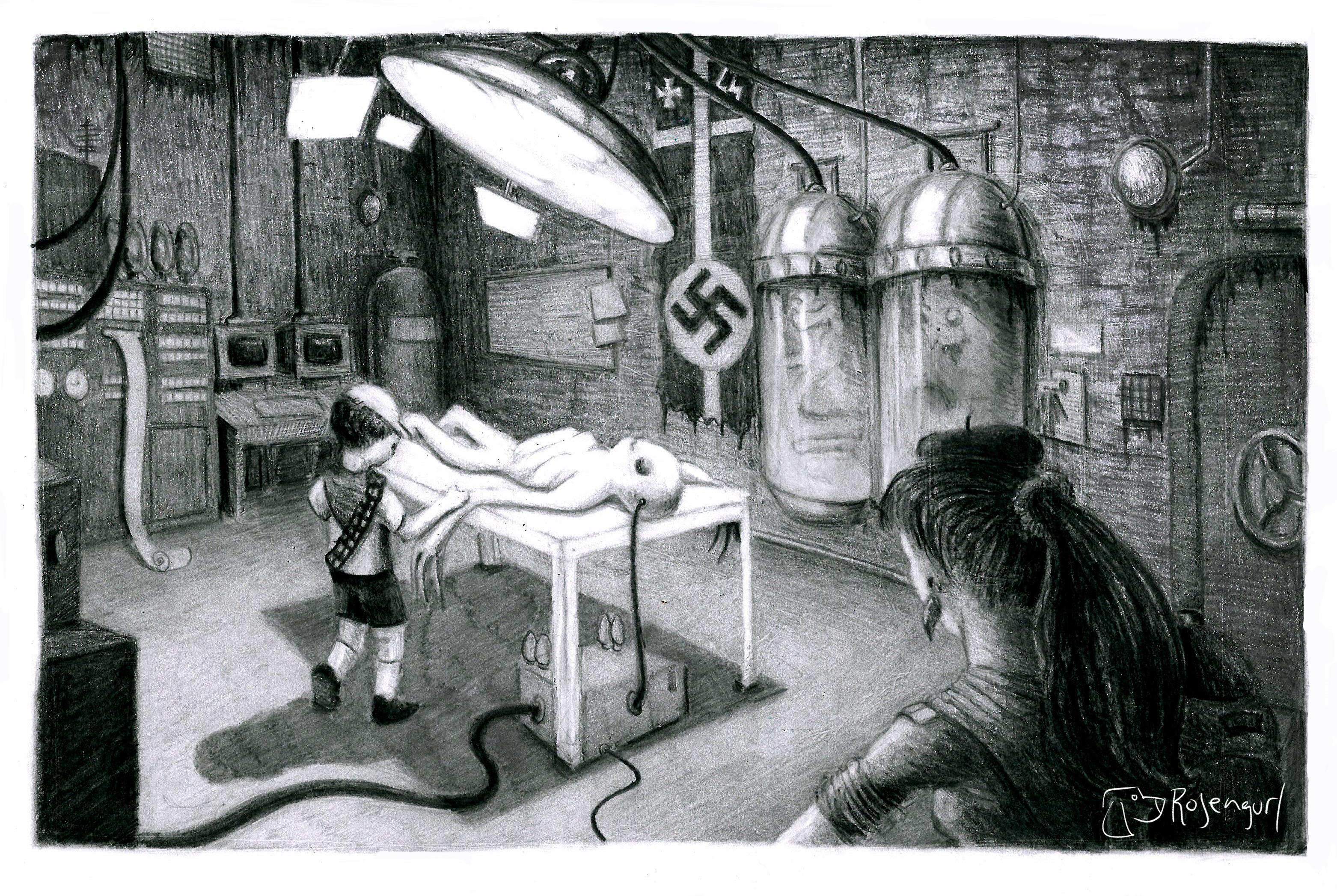 Mi laboratorio en blanco y negro
