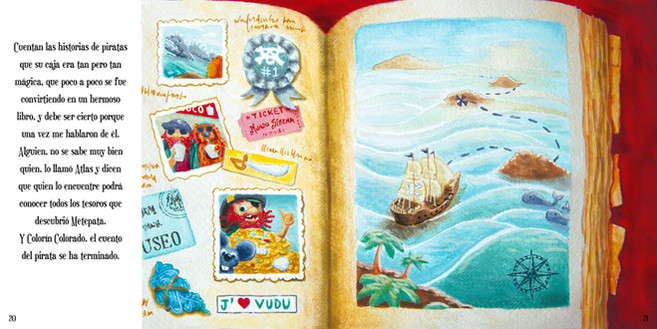 "Illustration for ""Memoria de Pirata"". For Mirna Gennaro"