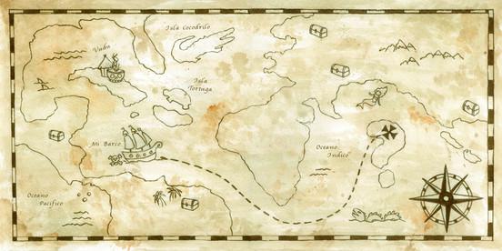 "End sheets for ""Memoria de Pirata"", by Mirna Gennaro"