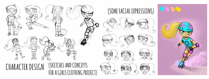 Character design for a girl clothes brand