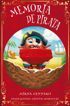 "Book cover test for ""Memoria de Pirata"", written by Mirna Gennaro"