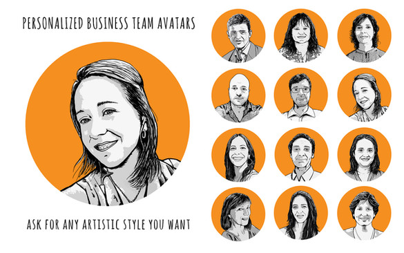 Personalized business team avatars for ICANA