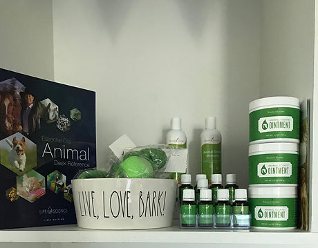 Pet Products Ointments and Essential Oils and Pet Shampoo