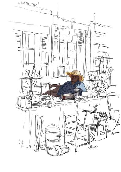 Vide-grenier au village