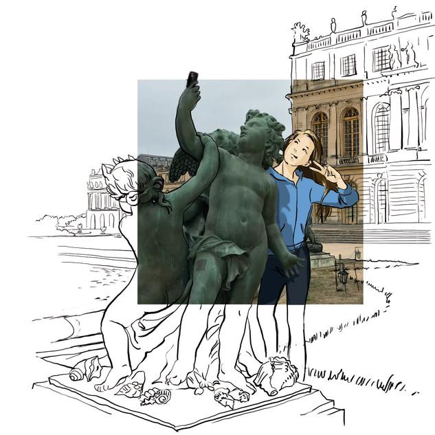Selfie à Versailles