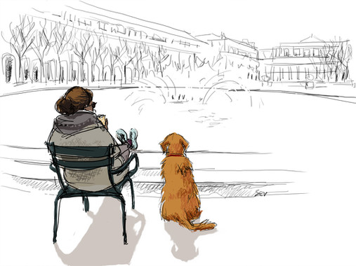 Pause au Palais Royal