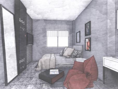 חדר מגורים לאיש עסקים וספורטאי