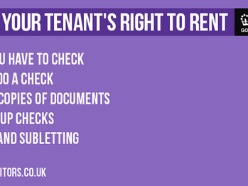 Check your Tenant's Right to Rent
