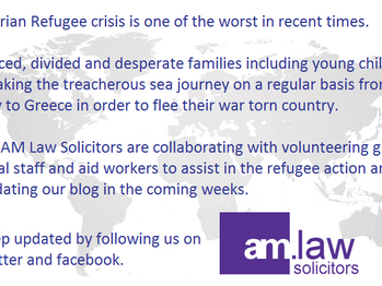 AM Law Solicitors responds to Syrian Refugee crisis.