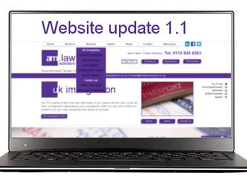 Website update 1.1 - amlawsolicitors.co.uk