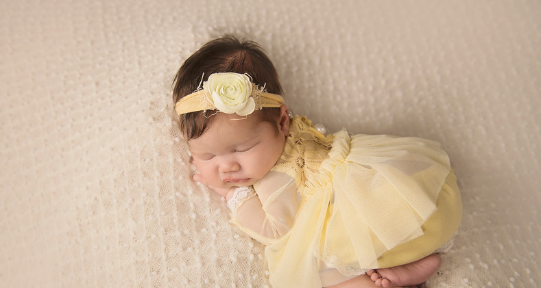 yellow dress with headband and bloomers