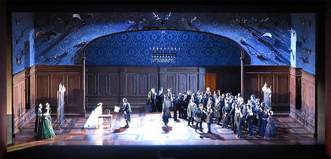 Scenografia teatrale per New National Theatre Tokyo. Spettacolo Lucia Di Lammermoor. Scene di Rudy Sabounghi