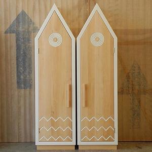 Camere per bambini. Armadi ed elementi in legno su misura. Creazioni di design da collezione