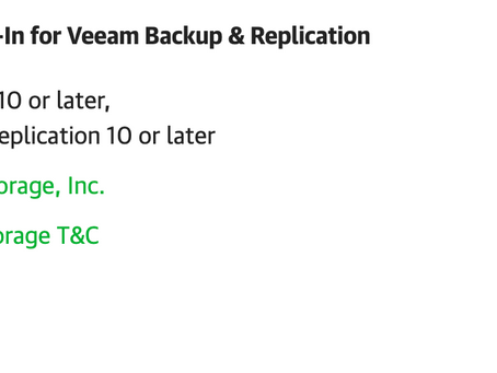 Quick Note - Pure Storage Plug-In for Veeam v1.3.18 Released