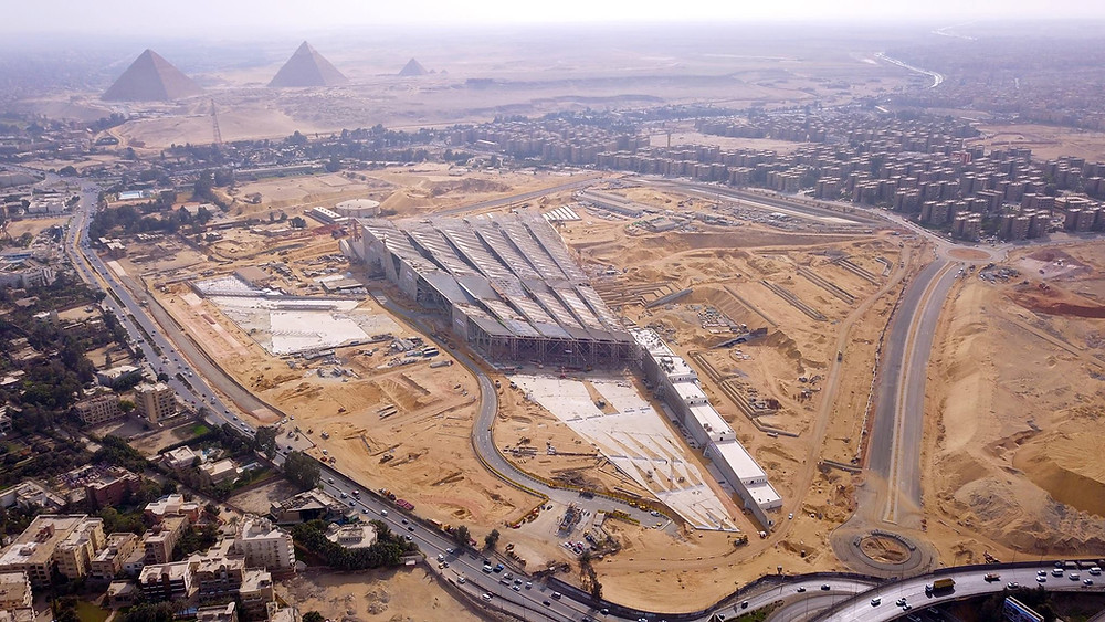 Grand Egyptian Museum in Giza, Cairo, Egypt. Largest architectural museum in the world and a top travel destination for 2019