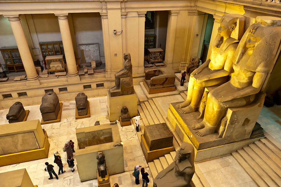 Egyptian Museum of Antiquities in Cairo, Egypt in Midan Tahrir. Best sightseeing spots in Cairo