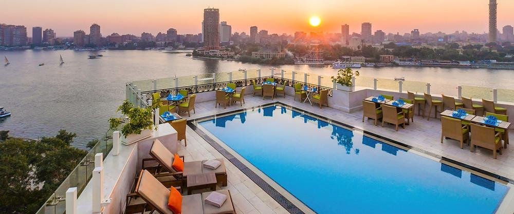 Kempinski rooftop. Best Rooftop Bars in Cairo