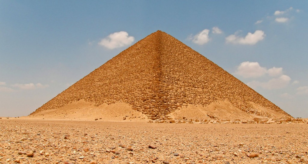 Red pyramid at Dahshur. 9 Different Egyptian Pyramids (That AREN'T The Giza Pyramids) You Need To See