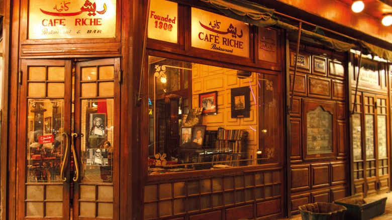 Cafe Riche. Vintage Cairo: 15 of the Oldest Restaurants, Bars and Cafes in the City
