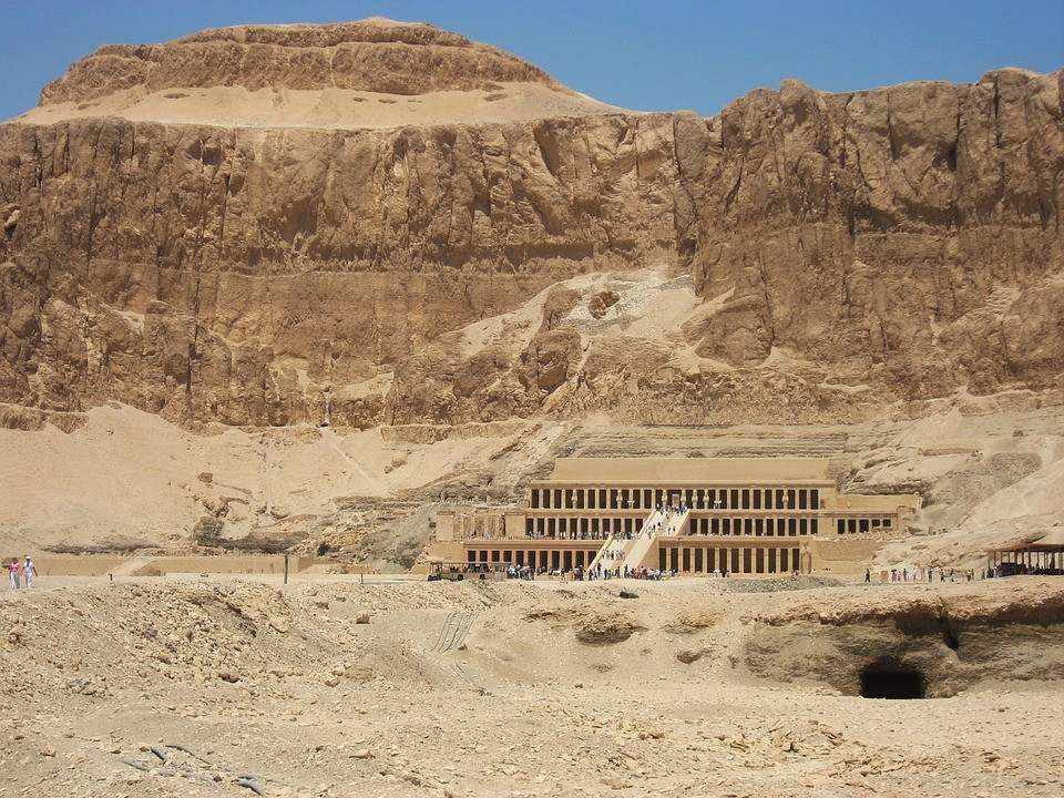 Hatshepsut Mortuary Temple in Dar el Bahri in Luxor. Ancient Thebes and its necropolis is is one of UNESCO's world heritage sites in Egypt