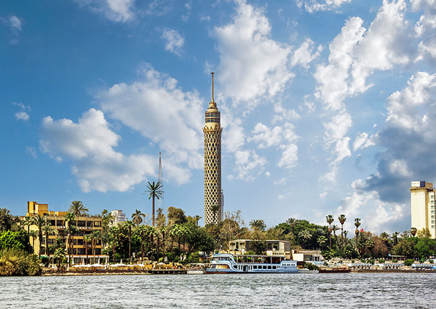 Cairo tower in Zamalek, Cairo Egypt. Best sightseeing and things see and do in Cairo Egypt