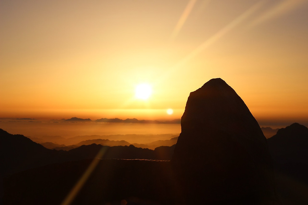 Mount Sinai in Saint Catherine, Sinai, Egypt. Best views in Egypt