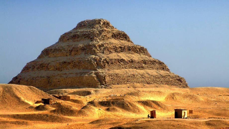 Saqqara pyramid. Memphis is a unesco world heritage site in egypt