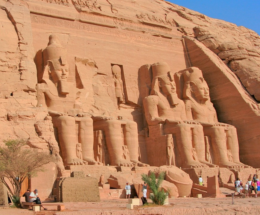 Abu Simbel in Aswan, Egypt. Abu Simbel is one of UNESCO's world heritage sites in Egypt