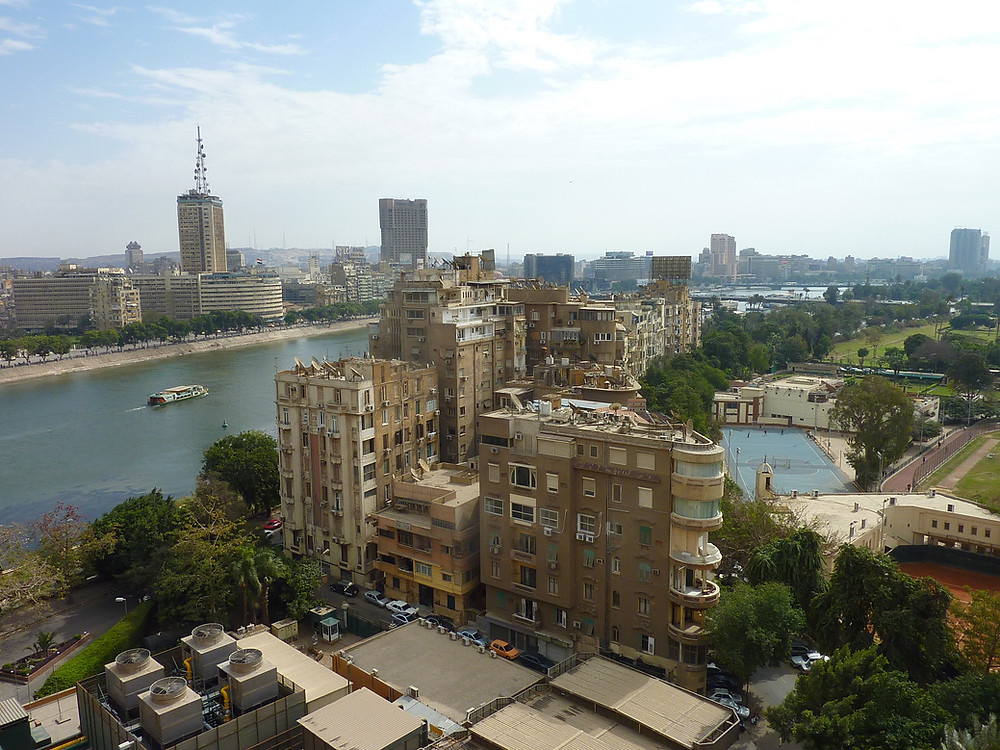Zamalek is the nicest neighborhood in Cairo Egypt