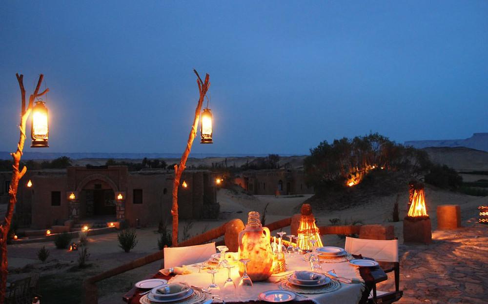 al tarfa ecolodge in dakhla oasis, egypt. best new year's spots in Egypt