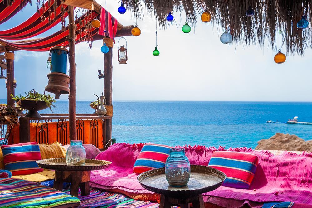 Farsha Mountain Lounge in Sharm el Sheikh, Egypt. Best views in Egypt