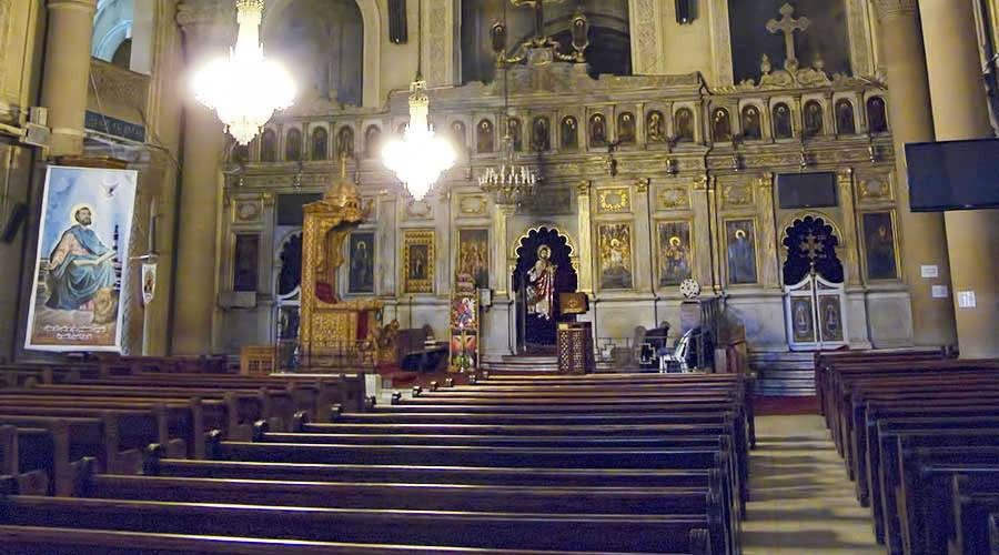 saint mark's coptic orthodox cathedral in alexandria, egypt. best churches, cathedrals and monasteries in egypt