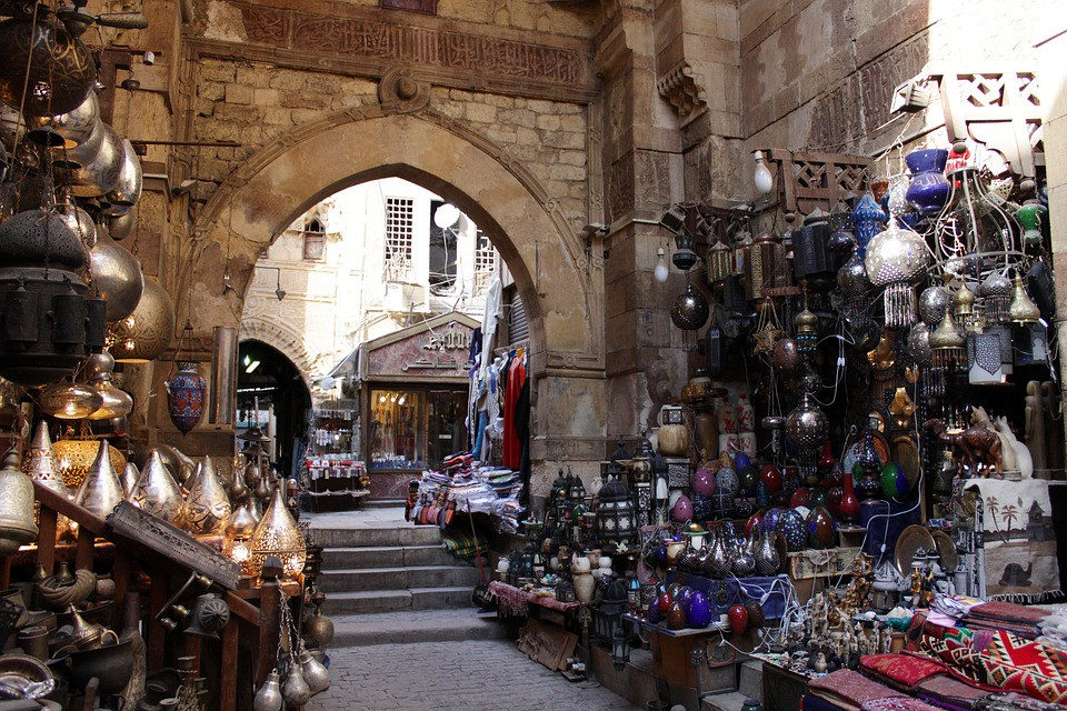 Khan el Khalili in Old Cairo. Historic Egypt is one of UNESCO's world heritage sites in Egypt