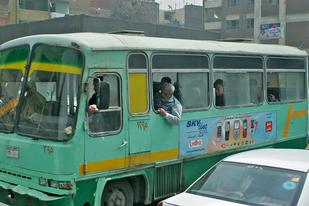 Transportation in Cairo, Egypt. Buses in Cairo Egypt