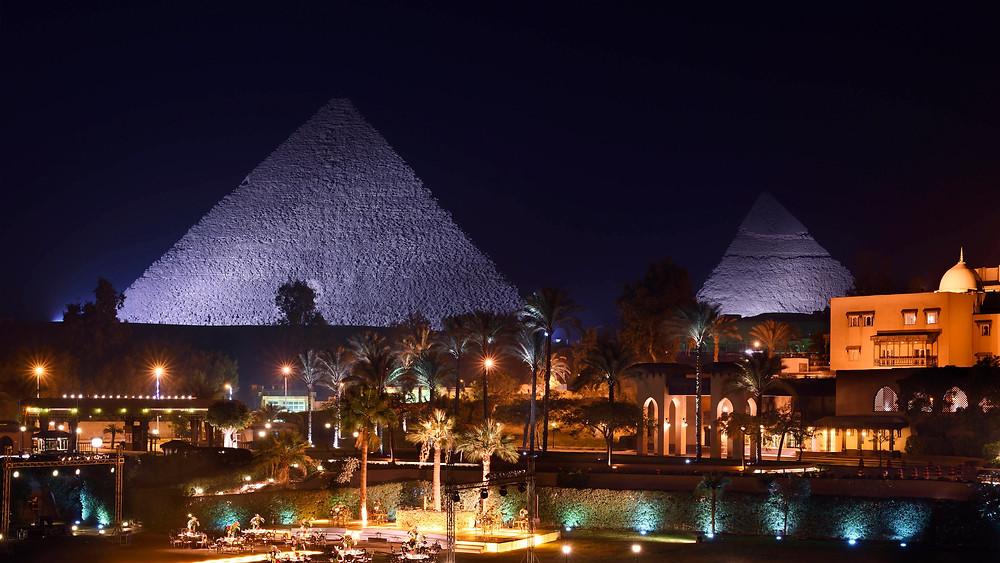 Marriott Mena House Hotel in Cairo, Egypt. Best views in Egypt