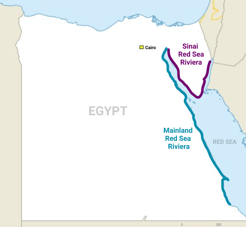 Egypt Red Sea Riviera map