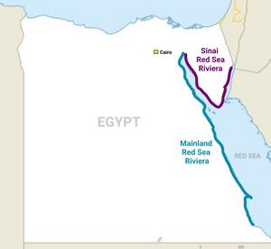 Egypt Red Sea Riviera map