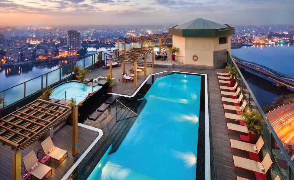 Fairmont Nile City. Pools & Day-Use in Cairo: 7 Best Hotel Pools To Spend The Day At