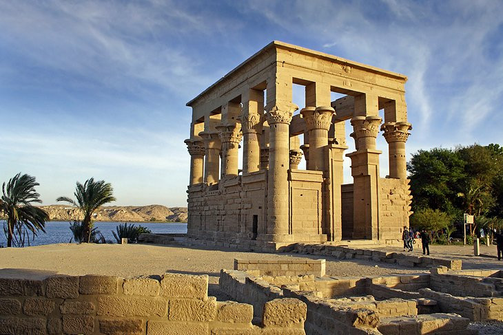 Philae Temple in Aswan, Egypt. Philae is one of UNESCO's world heritage sites in Egypt