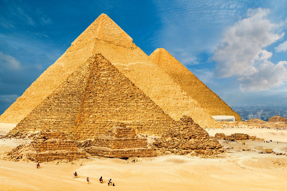 Great Pyramids of Giza and the Sphinx. Egypt is the best travel destination of 2019