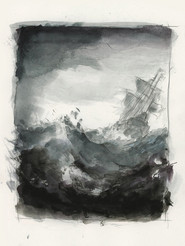 Ship, watercolour